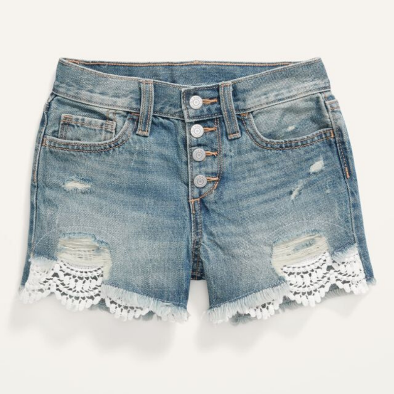Old Navy denim shorts with lace