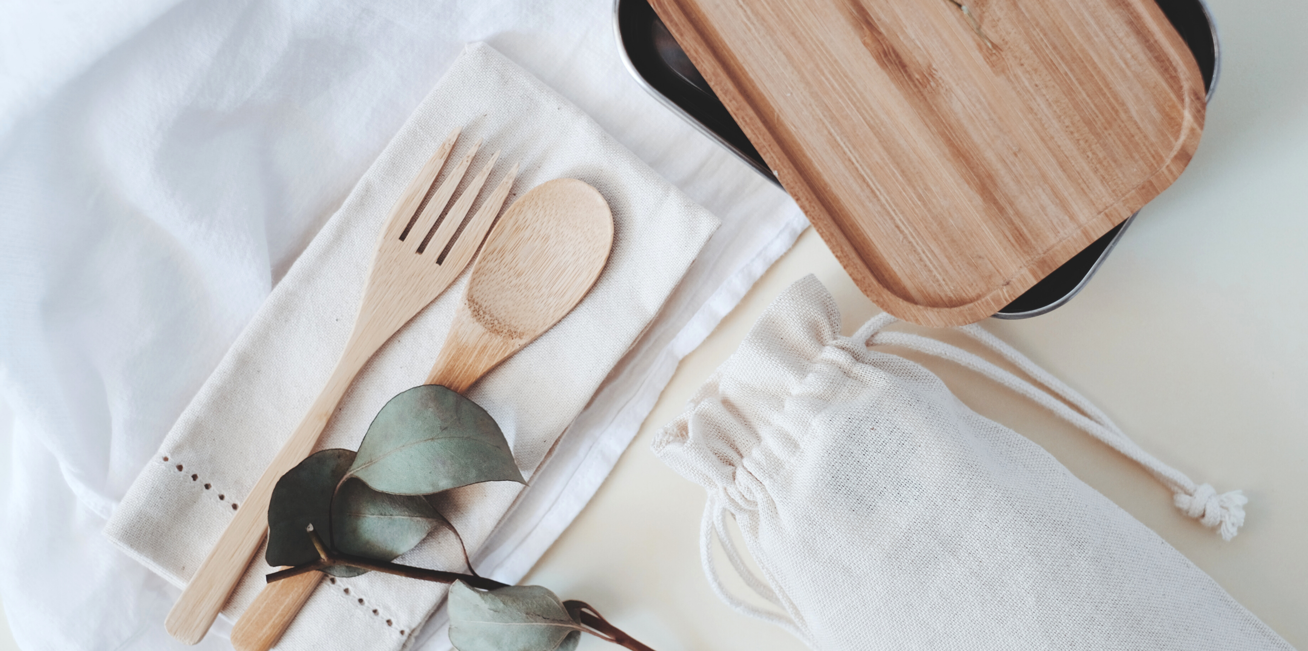 Easy Ways To Go Green - sustainable products flatlay
