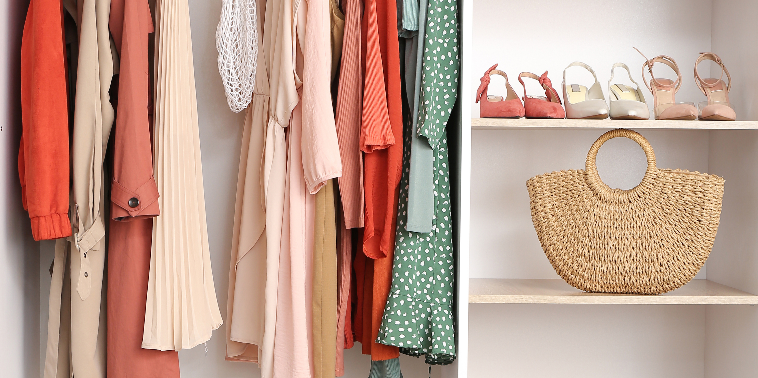 Spring Refresh: Ideas For Stylish Updates - closet filled with spring clothing