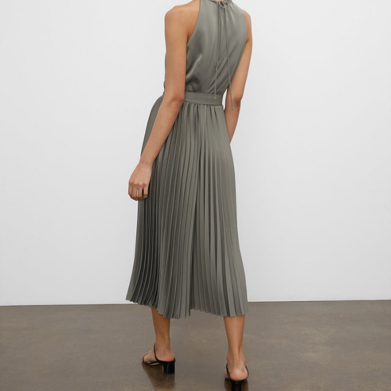 Green pleated jumpsuit from Club Monaco