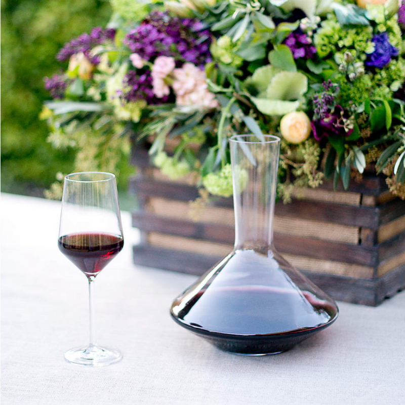 wine decanter from Crate & Barrel