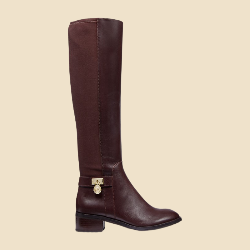 Leather riding boot from Michael Kors