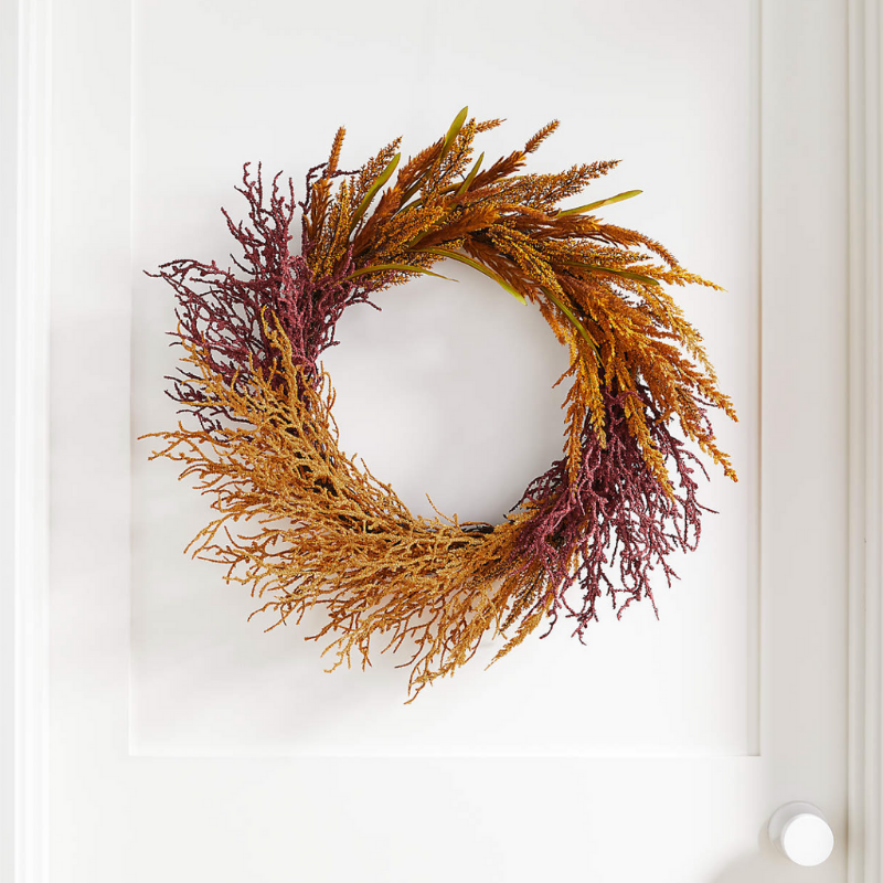 Harvest Wheat Autumn wreath from Crate & Barrel